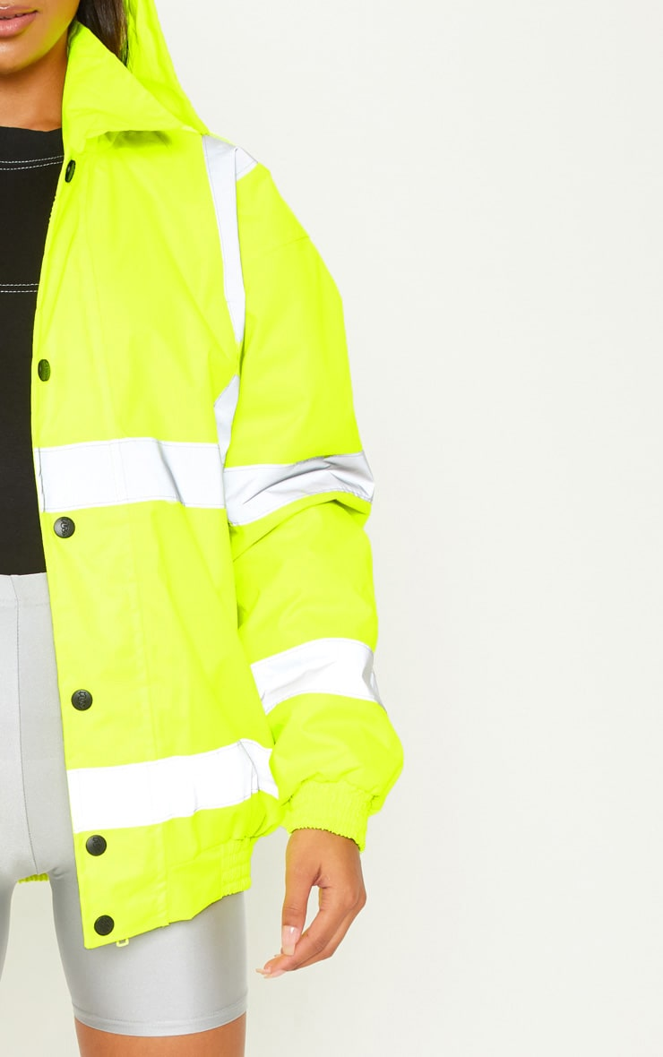 Neon Yellow High Vis Coat 5