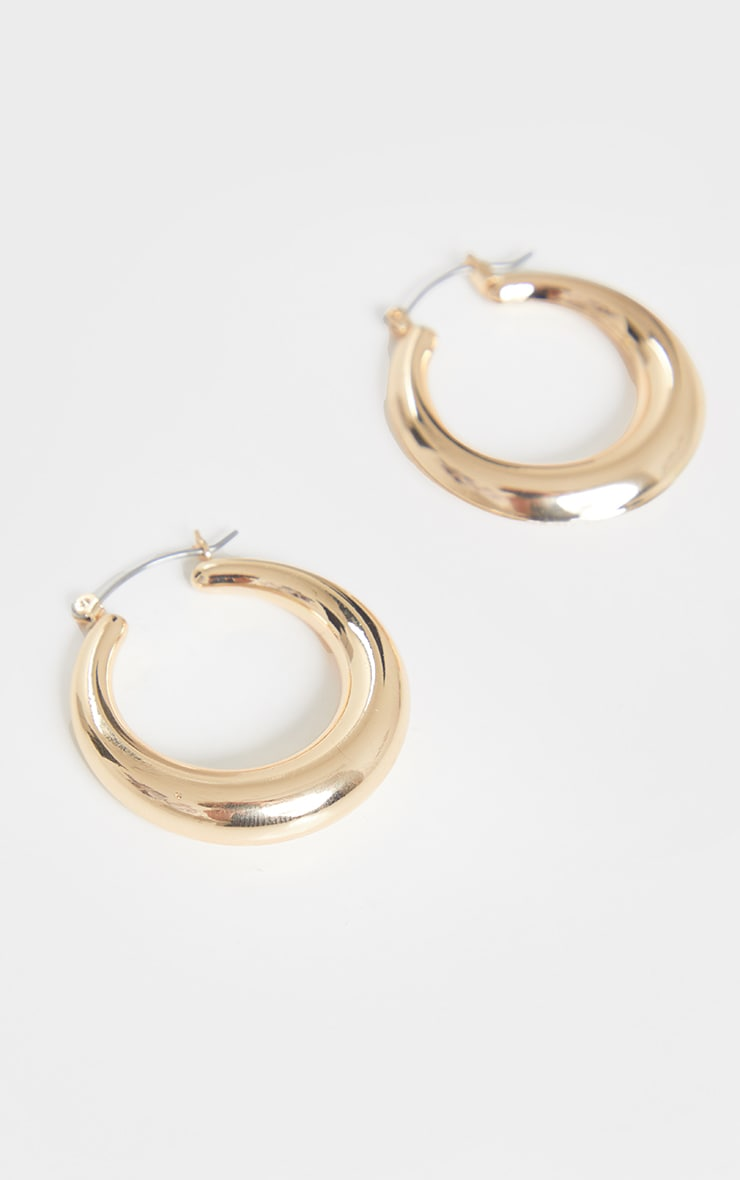 Gold Hoop Circular Earrings 2