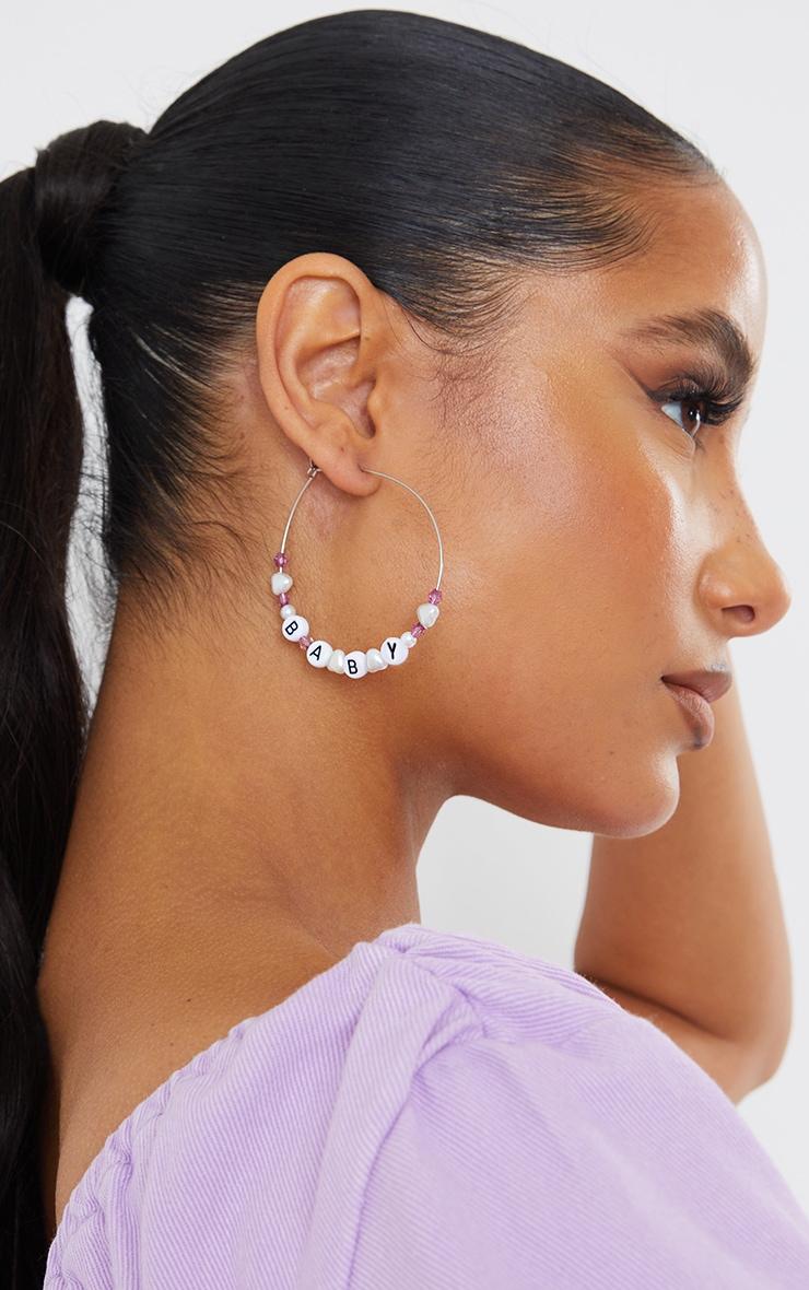 Baby Beaded Hoop Earrings 1