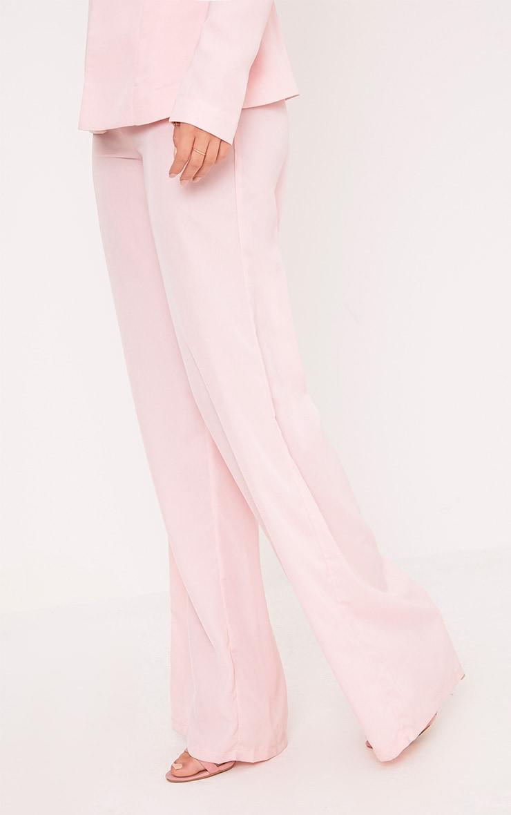 Elnie Baby Pink Wide Leg Suit Pants 5