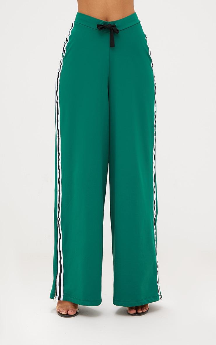 Green Wide Leg Sport Trouser 3