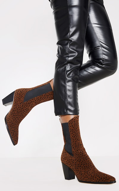 Leopard Chelsea Western High Ankle Boot