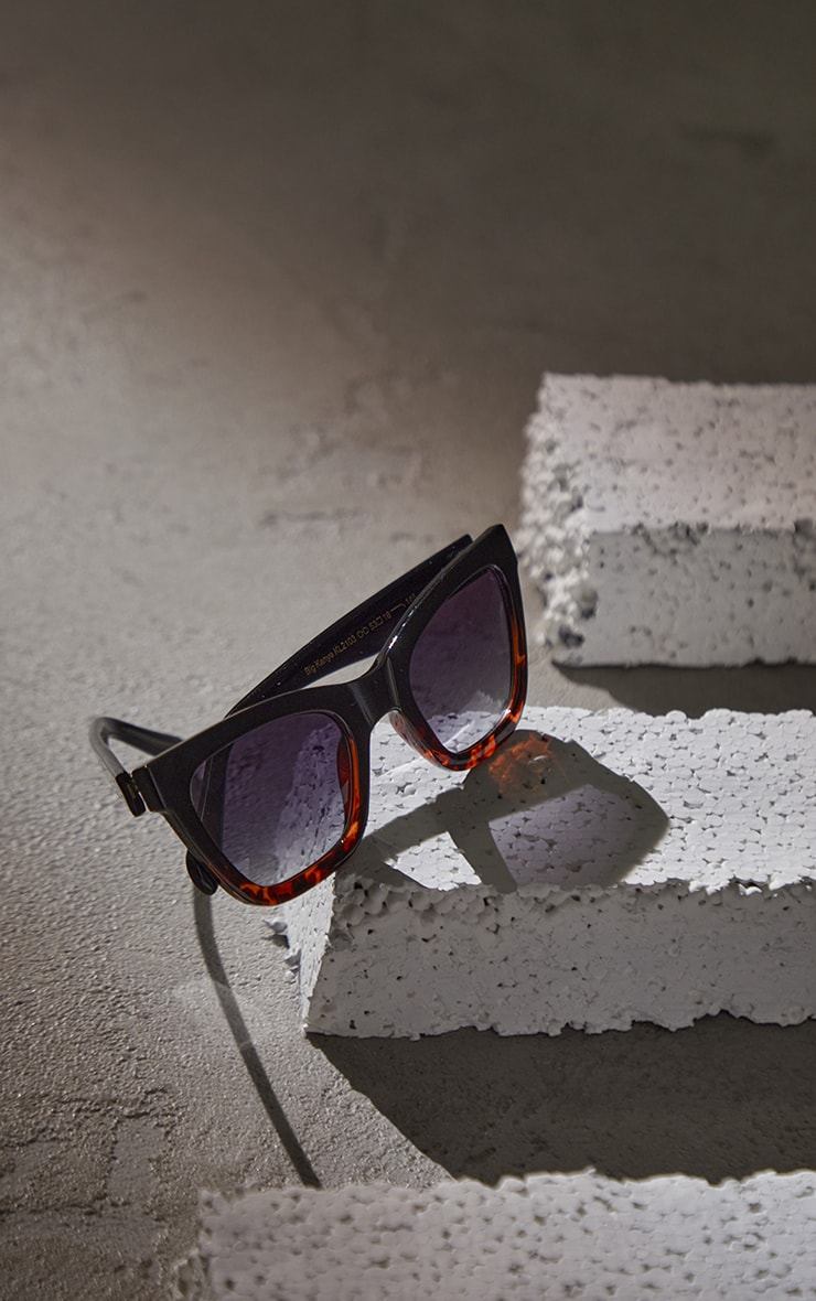 A.Kjaerbede Big Kanye Black Sunglasses 2