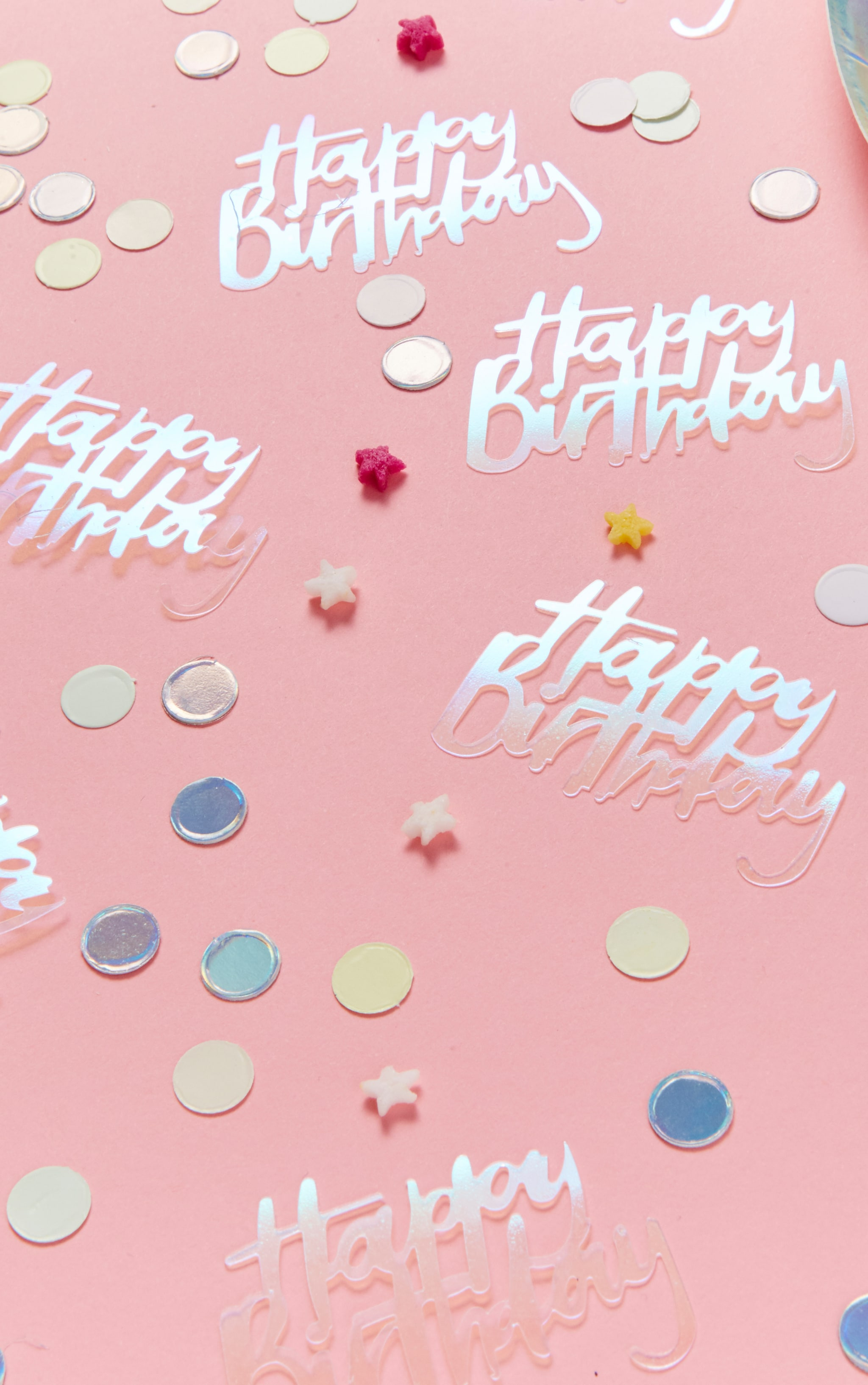 Ginger Ray Happy birthday Iridescent Table Confetti Patel Party 1