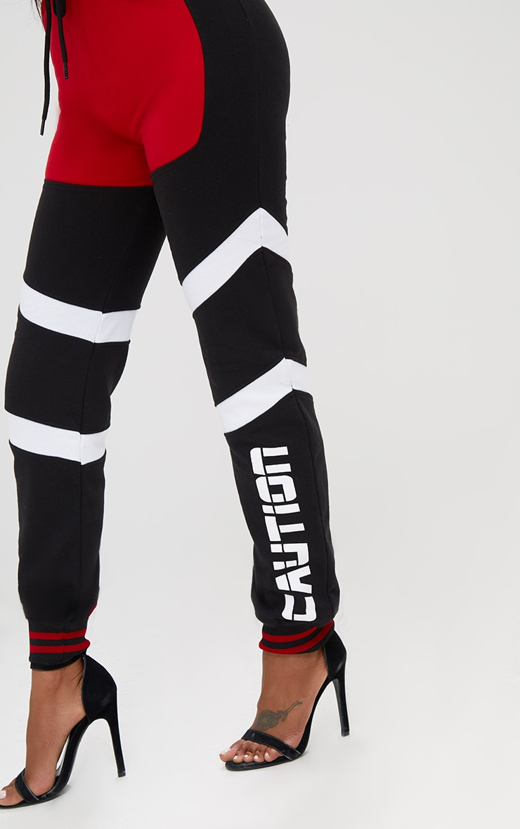Shape Black Caution Contrast Joggers 5