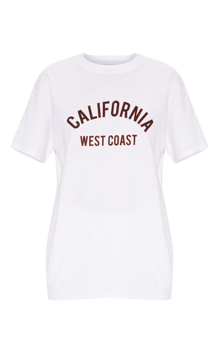 White California Slogan Oversized T Shirt  3