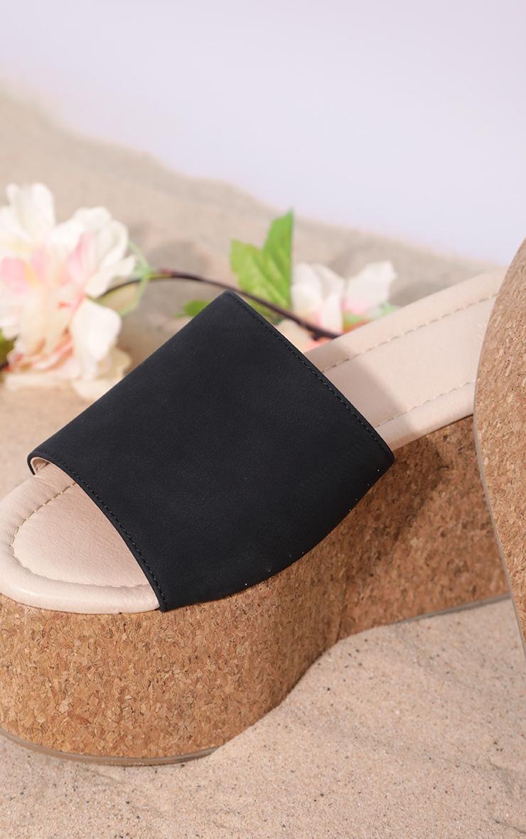 Sandales style espadrilles noires à très grosse semelle  4