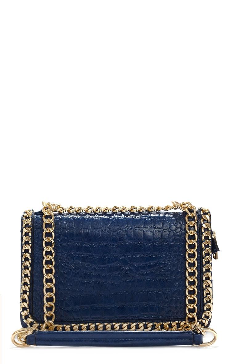 Ophelia Blue Chain Detail Bag 1