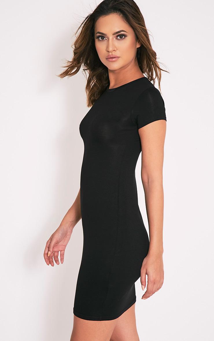 Robe jersey basique noire  4