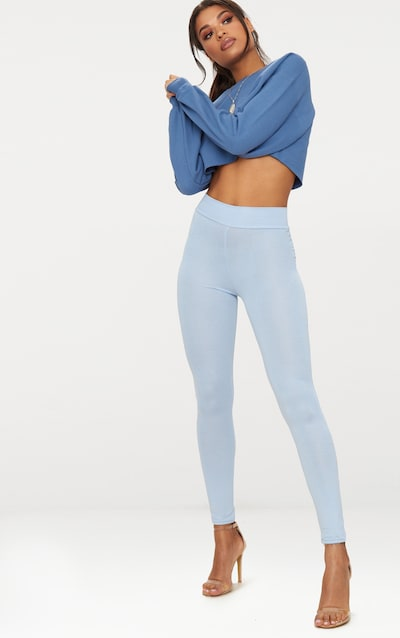 6bf2e86520e0bd Powder Blue High Waisted Jersey Leggings