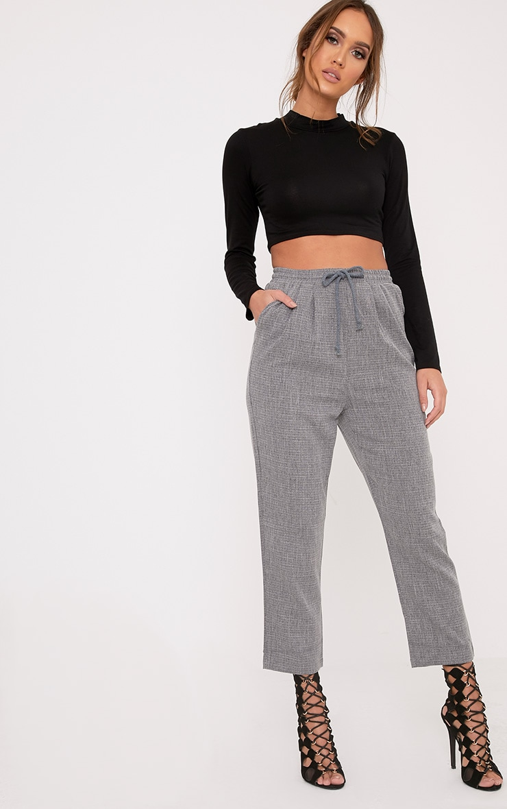 Diya Grey Casual Pants