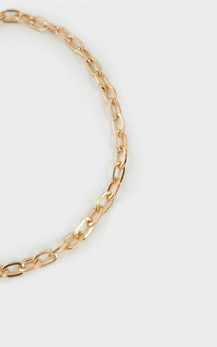 Gold Fine Hoop Twist Chain Necklace 3