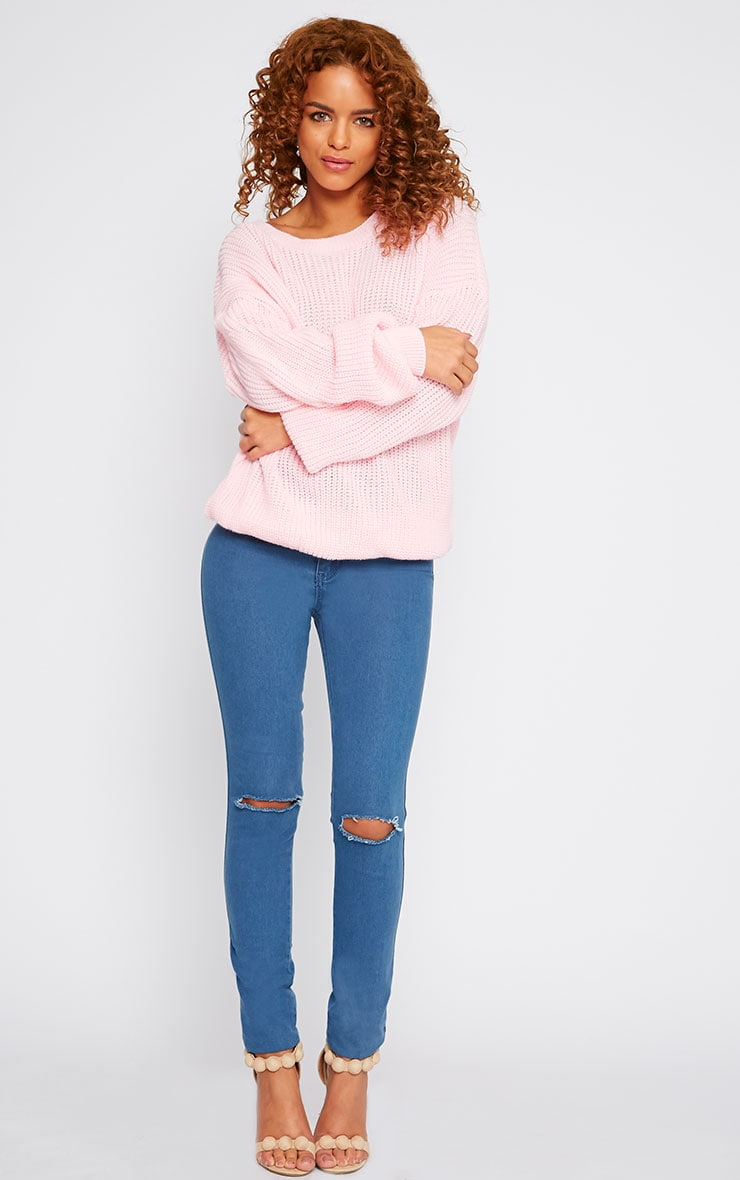 Delilah Pink Knitted Jumper 4