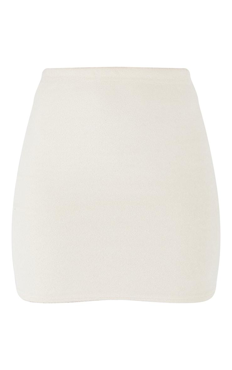 Cream Towelling Mini Skirt 6