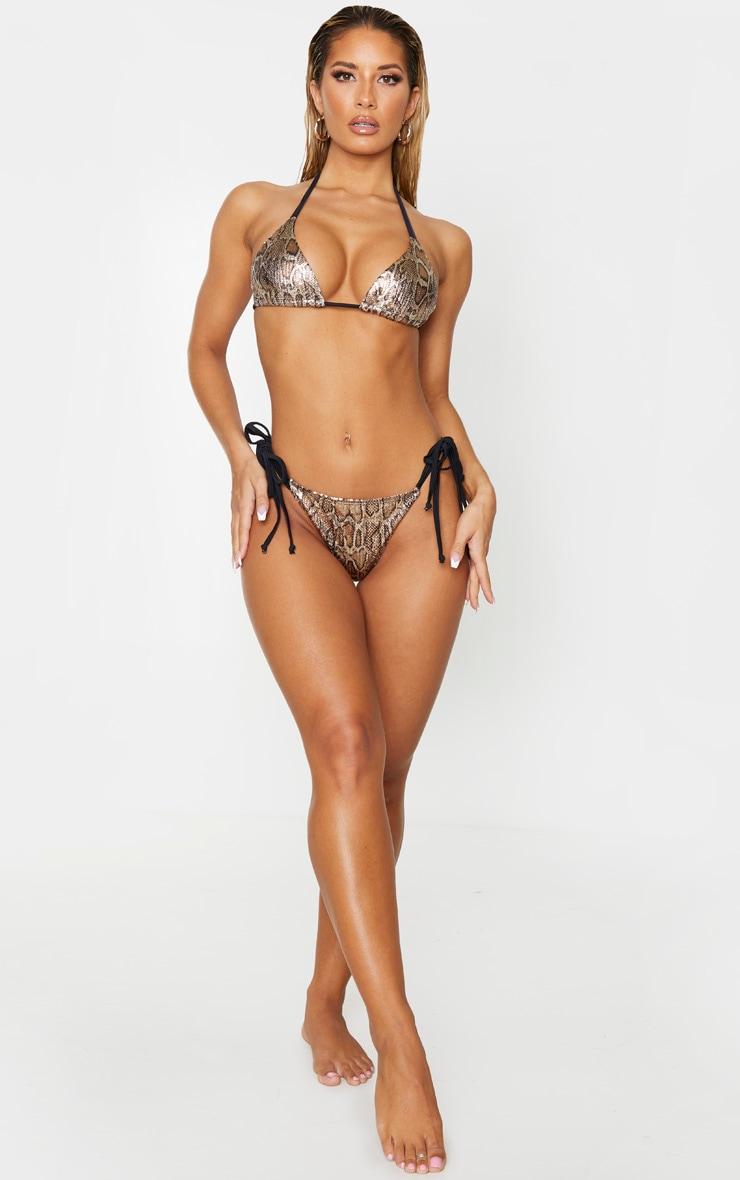 Bas de bikini texturé métallisé effet serpent 4
