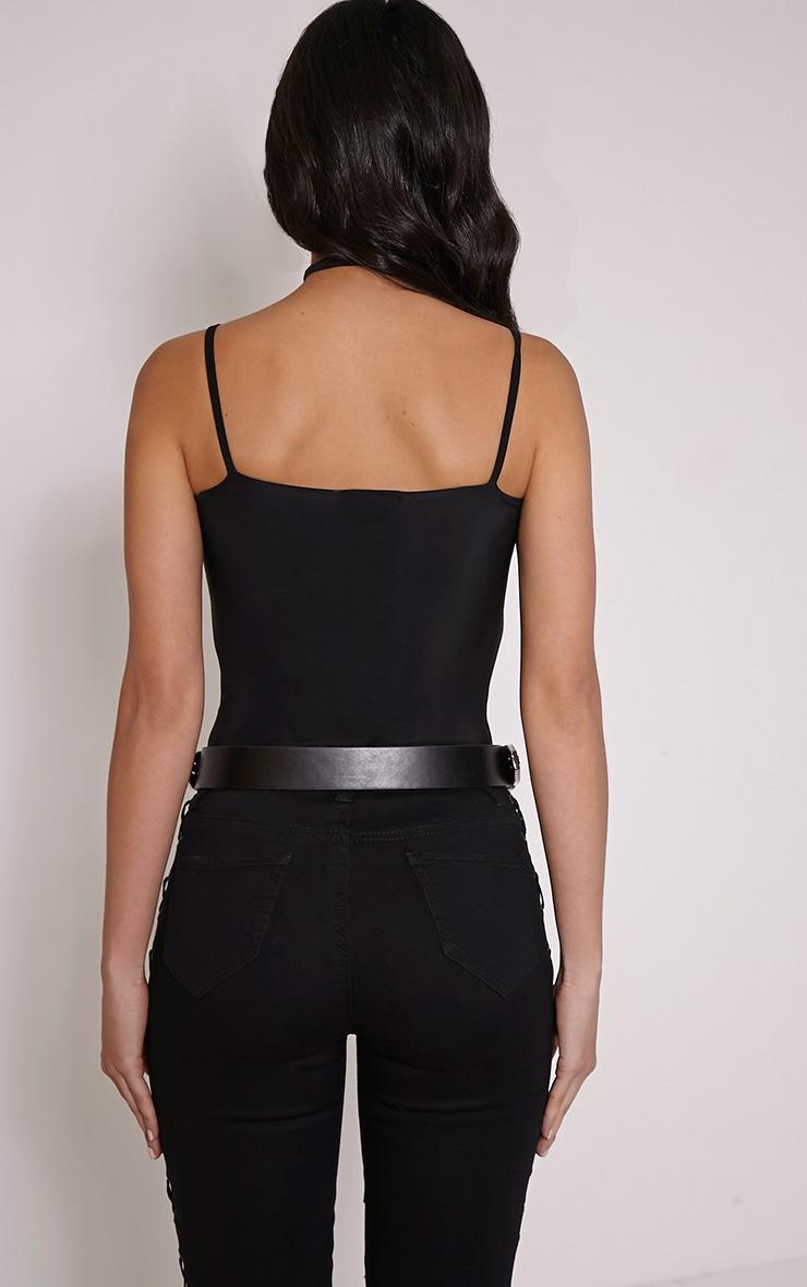 Kiya Black Strap Detail Bodysuit 2