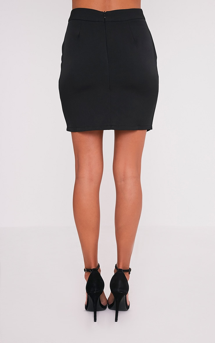 Mitzy Black Lace Up Mini Skirt 6