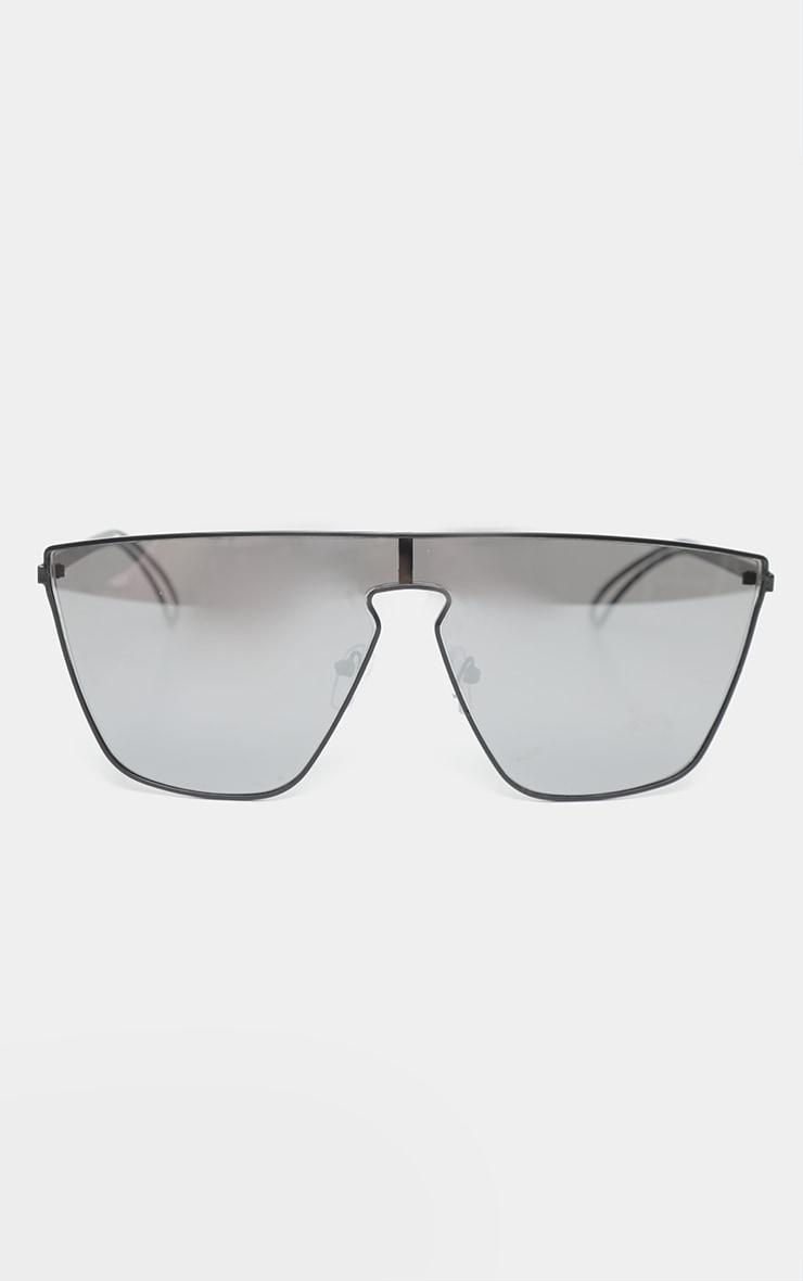 Silver Revo Flat Top Oversized Sunglasses 2