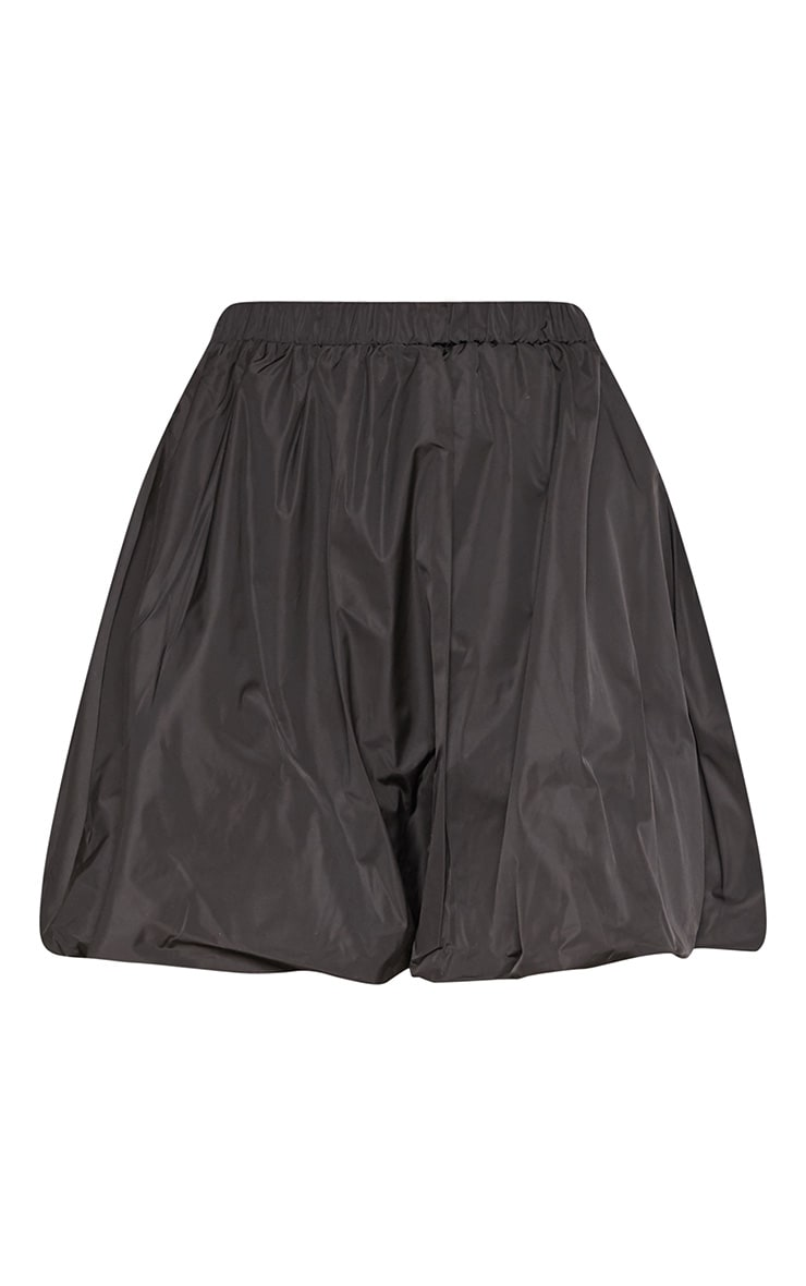 Black Shell Toggle Side Detail Mini Skirt 3