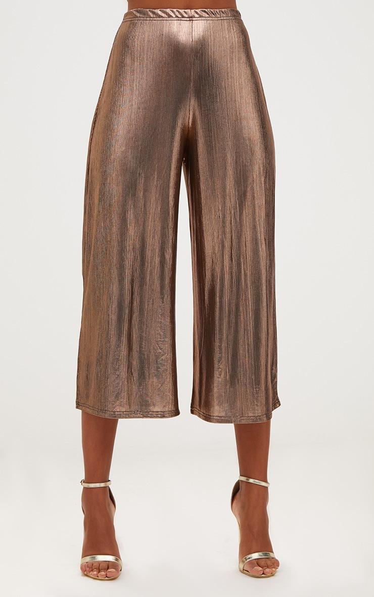 Copper Metallic Culottes 2