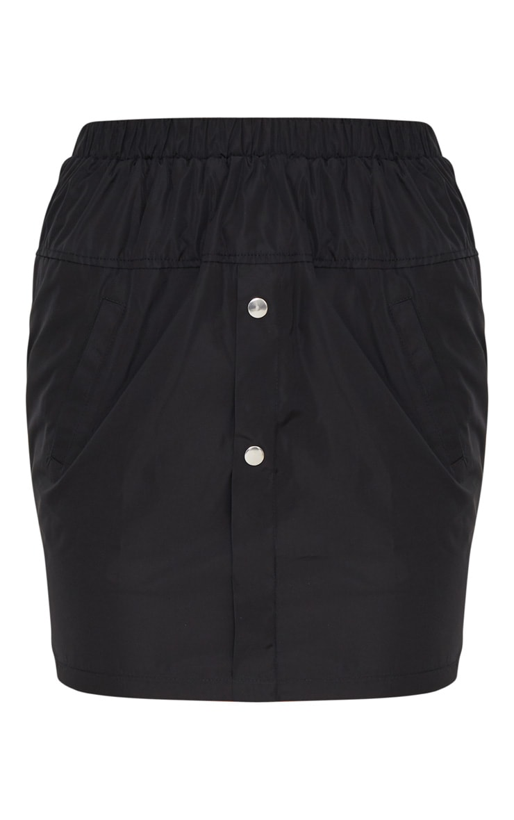Black Shell Suit Mini Skirt 3