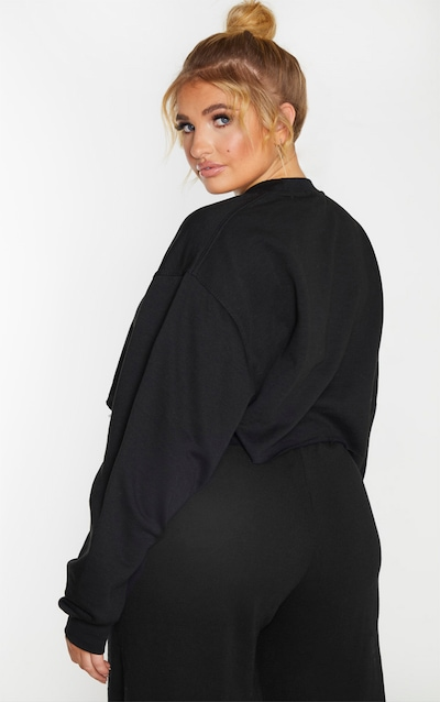 Plus Black Ultimate Cropped Sweater