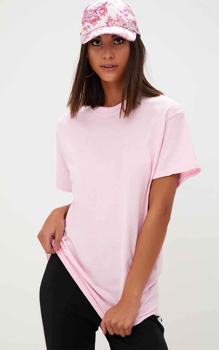 T-shirt surdimensionné rose clair basique