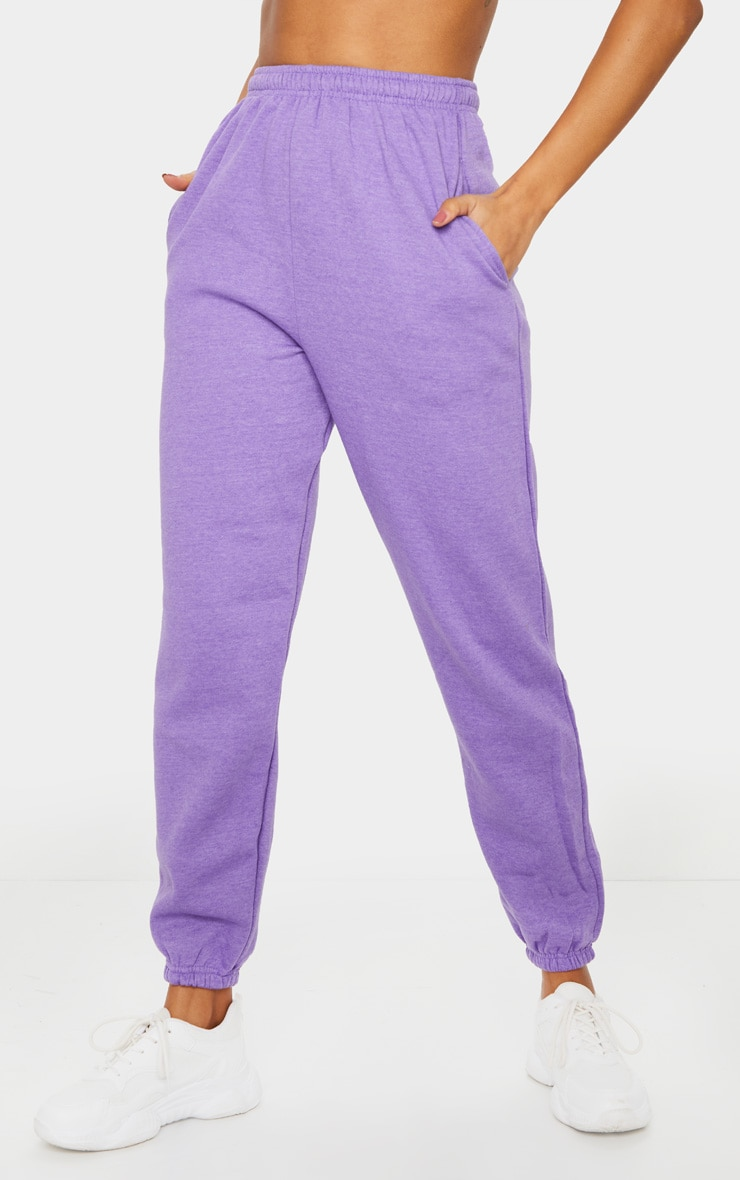 Purple Marl Casual Jogger 2