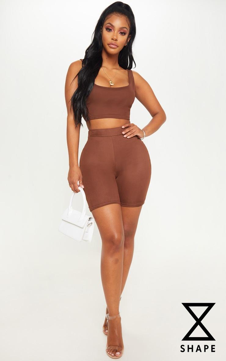Shape Chocolate Brown Mesh Cycling Shorts 1