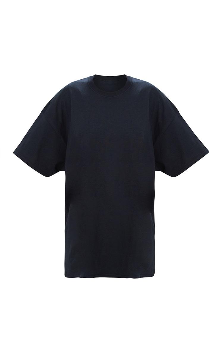 Black Oversized Boyfriend T Shirt  3