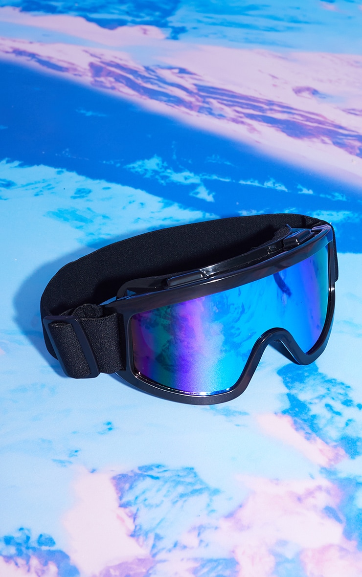 Black Rose Gold Chrome Lens Ski Goggles 1