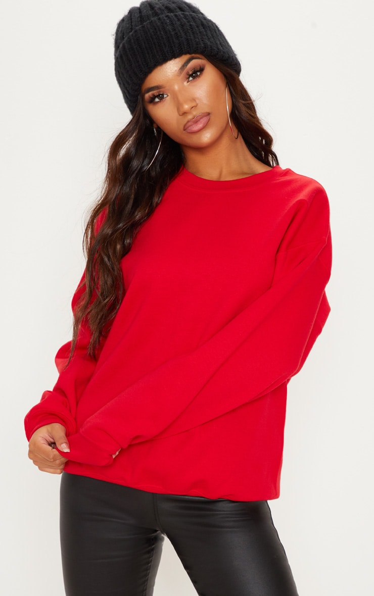 Red Ultimate Oversized Sweater 1