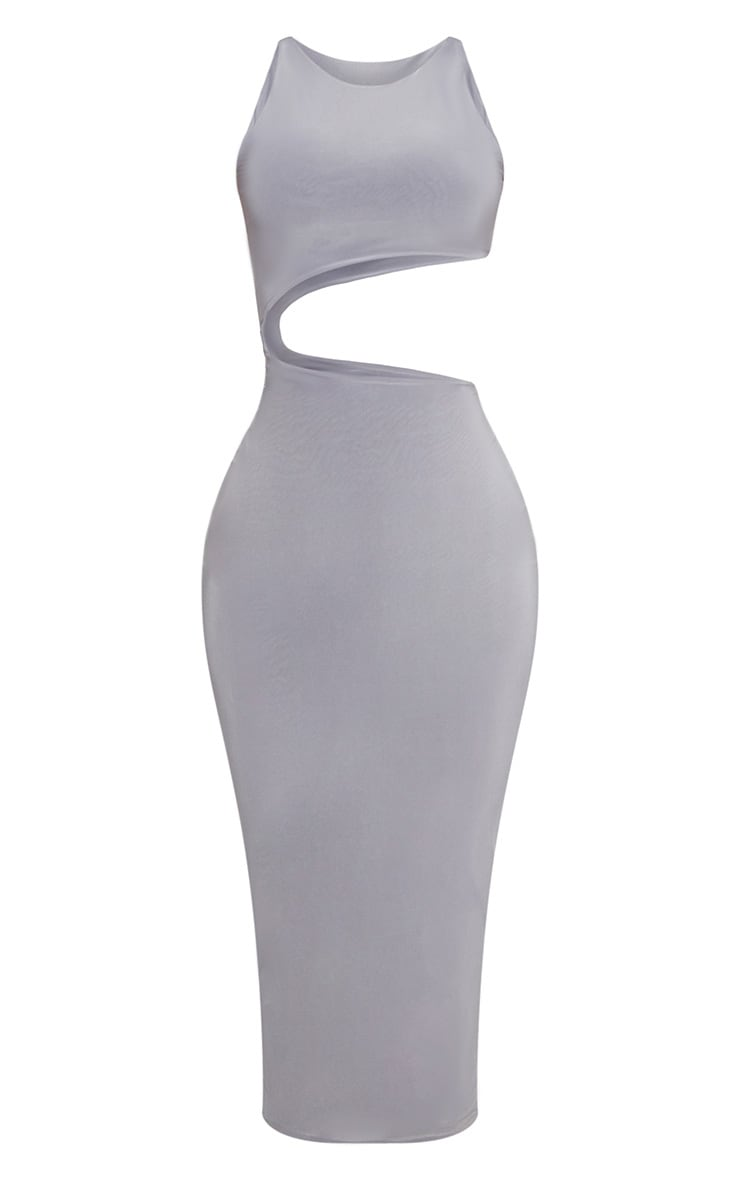 Shape Ice Grey Extreme Cut Out Midaxi Dress 3