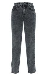 Petite Black  Low Rise Split Hem Jeans 5