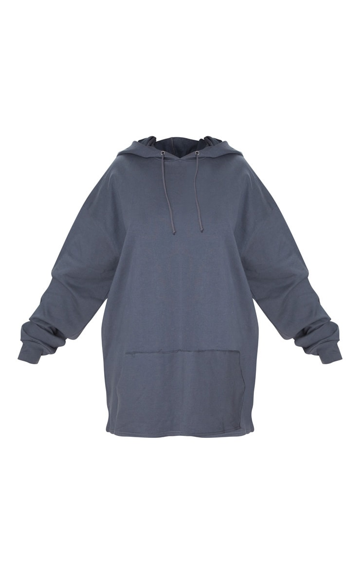 Plus Charcoal Oversized Hoodie 3