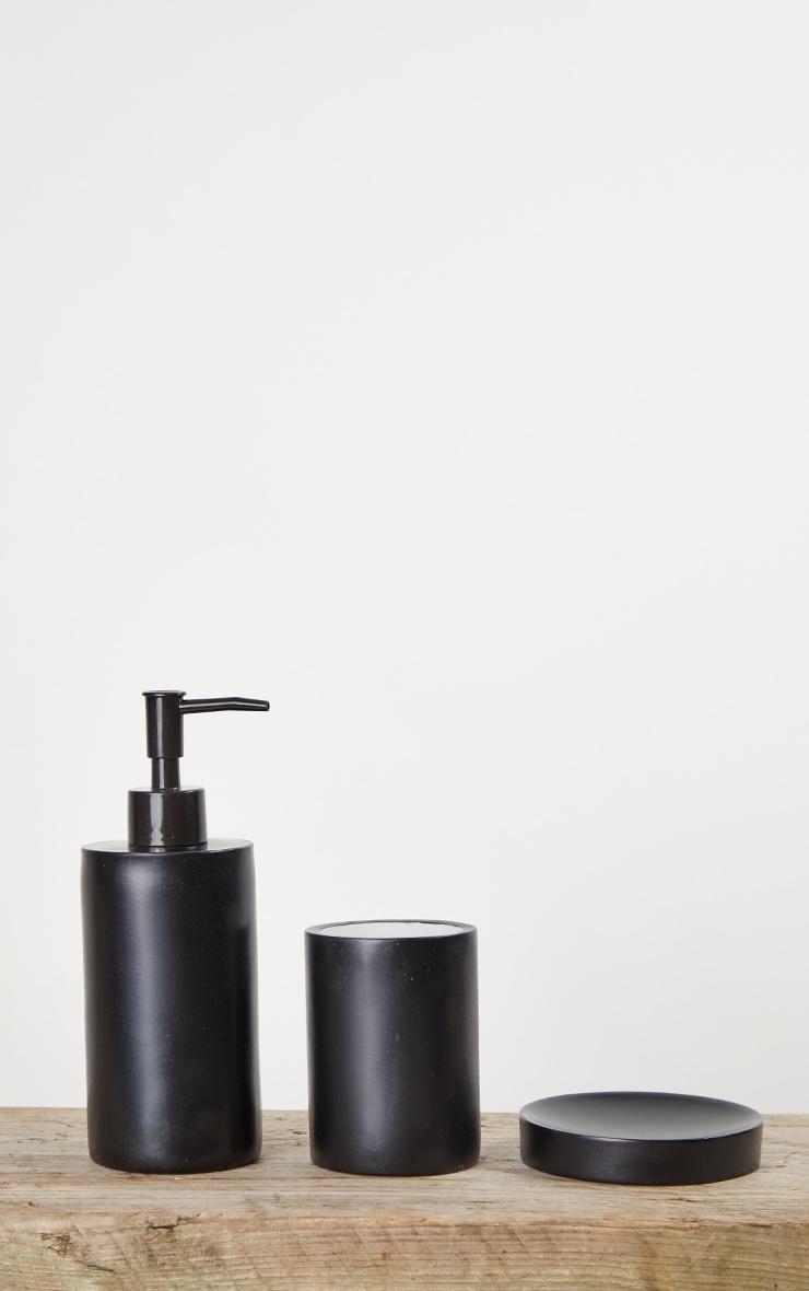Matte Black 3 Piece Bathroom Soap Set 4