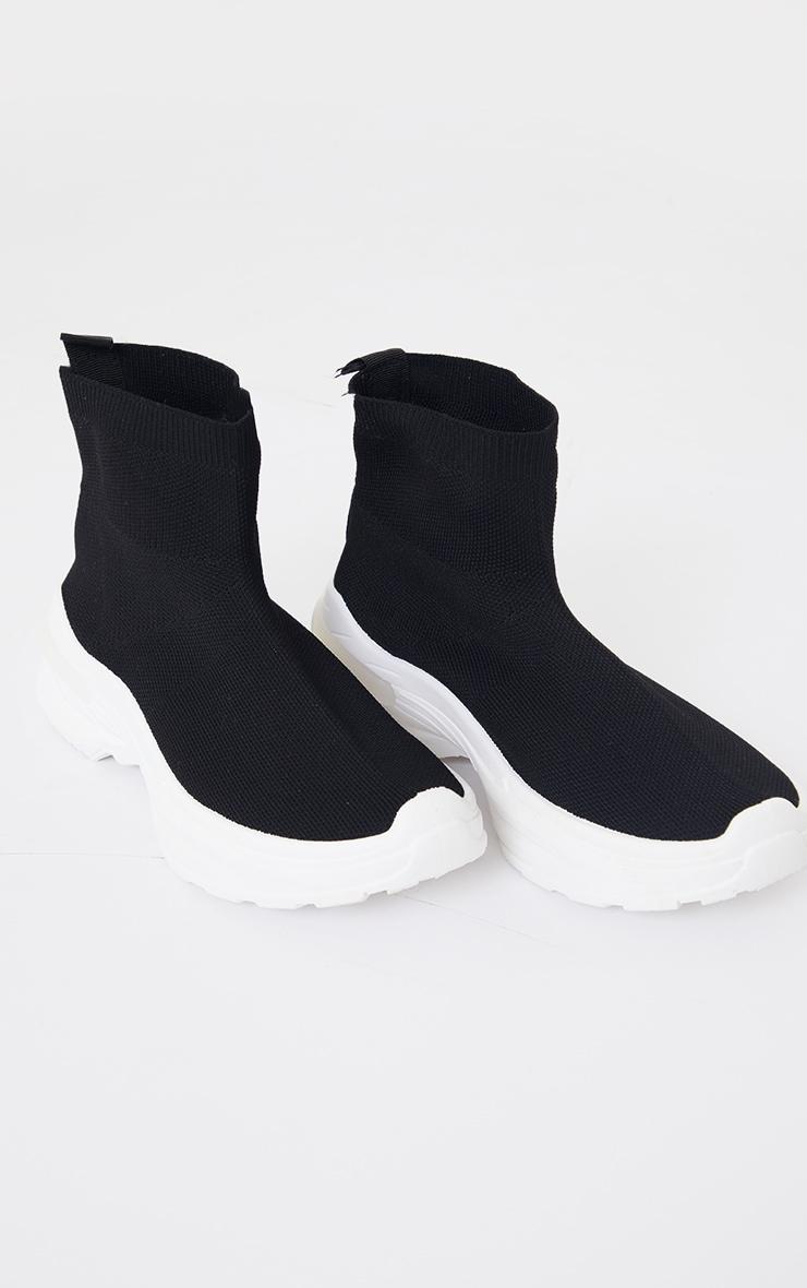 Black Knit Sock Chunky Sole Sneakers 3