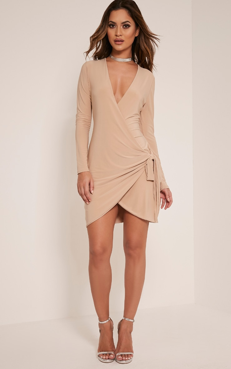 Vickie Stone Slinky Tie Side Mini Dress 5