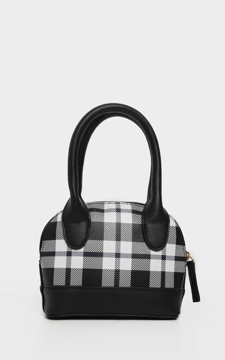 Monochrome Check Rounded Grab Bag 2