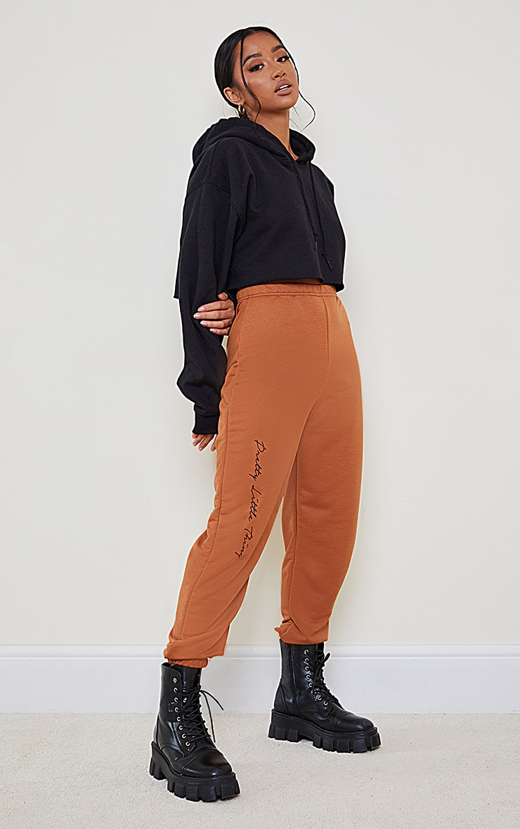 PRETTYLITTLETHING Petite Rust Basic Joggers 1