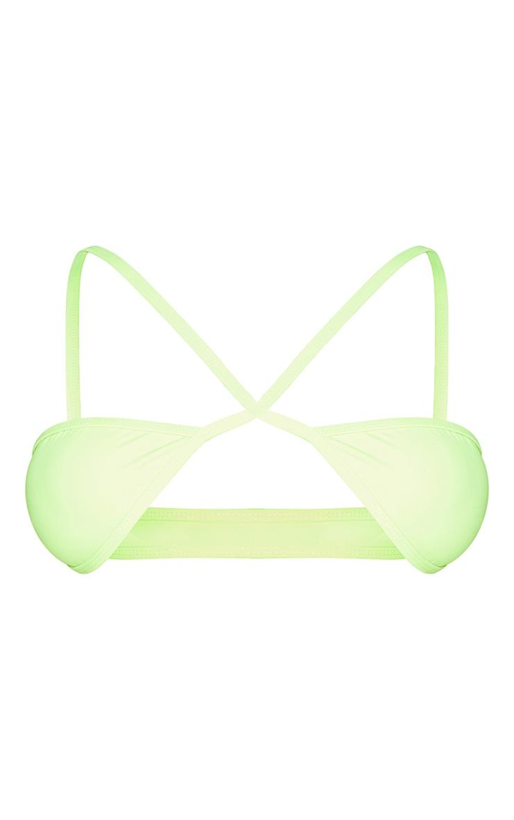 Shape Lime Cross Front Bikini Top 5