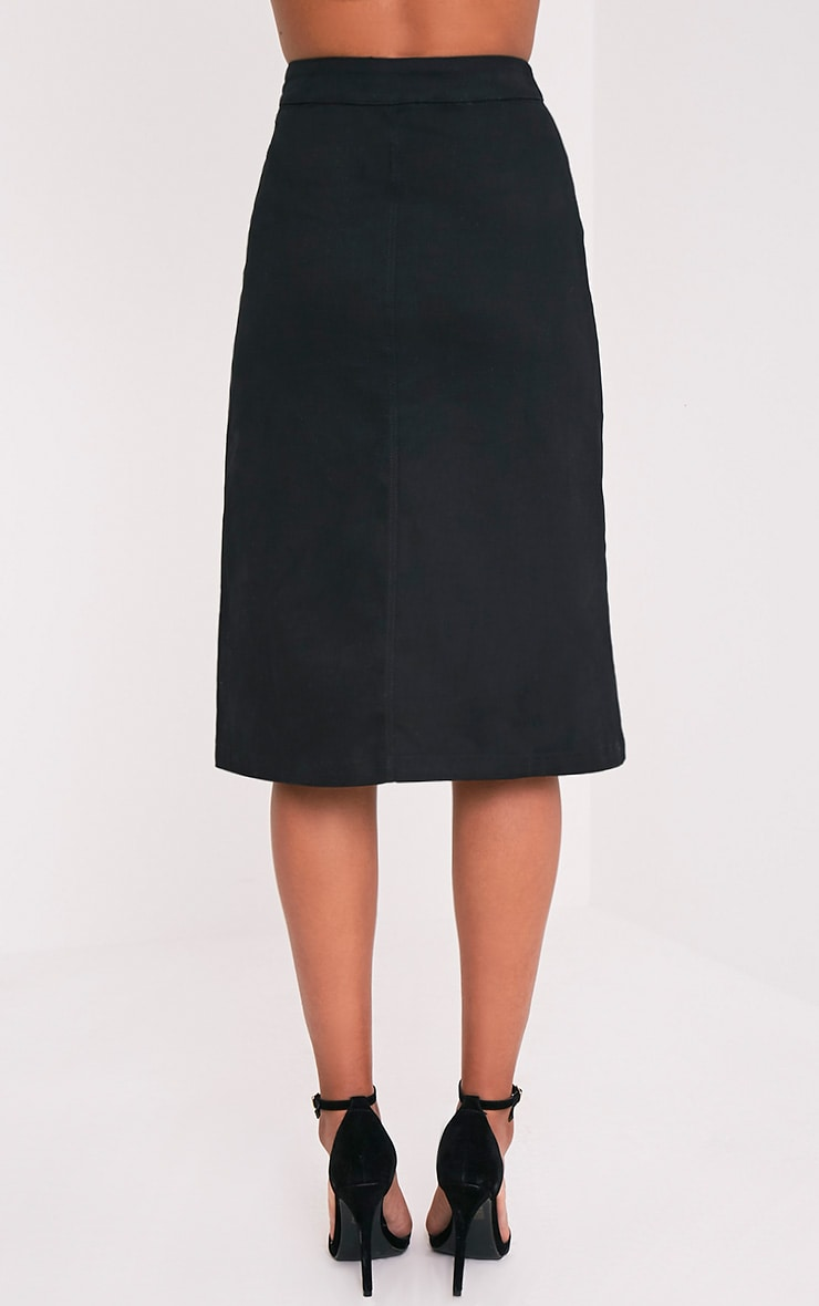 Cammie Black Midi Skirt 5