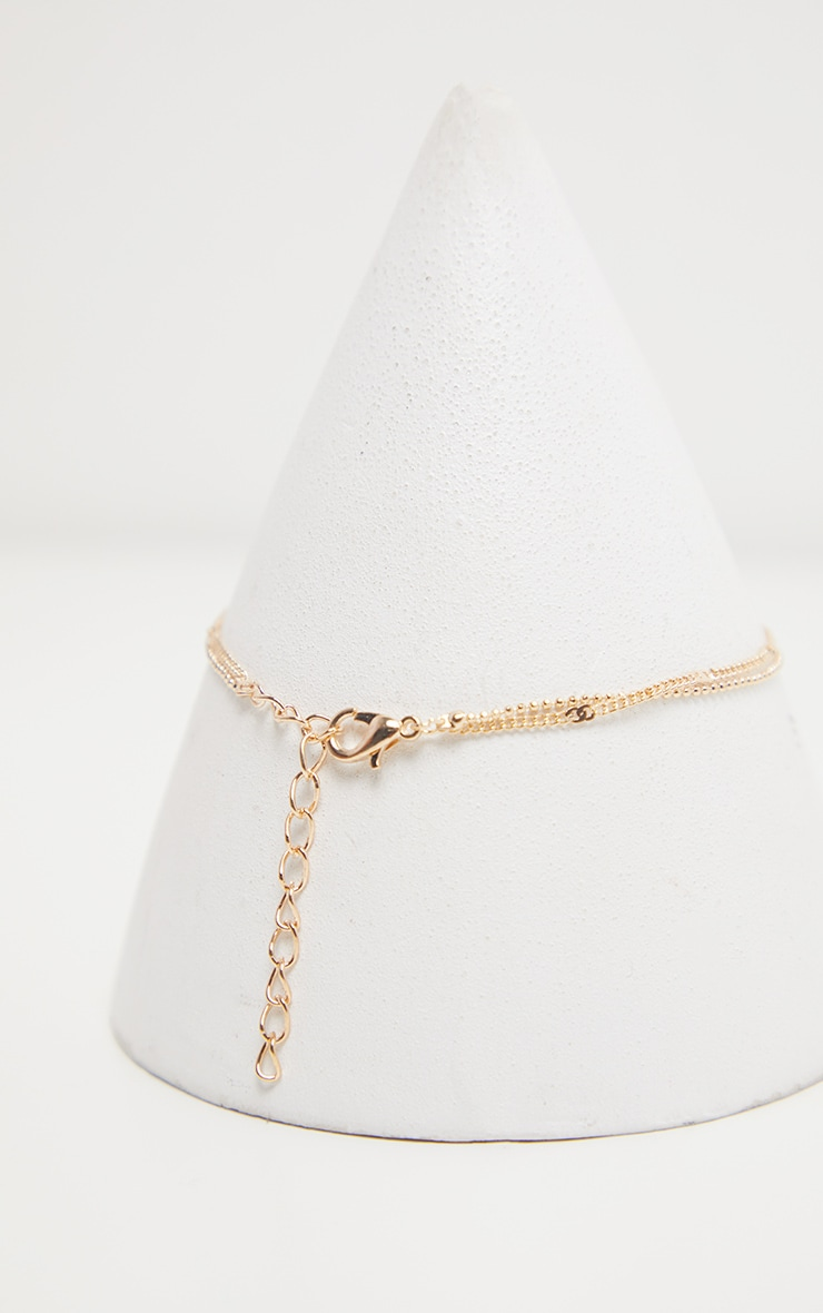 Gold Double Chain Layer Anklet 3