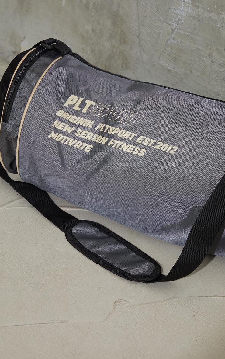 PRETTYLITTLETHING Charcoal Sports Duffle Bag 3