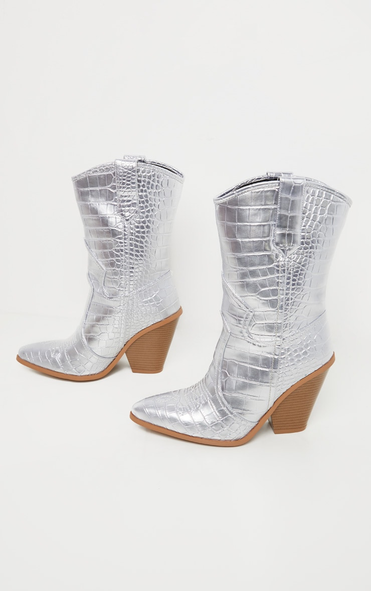 Silver Heeled Western Boot 4