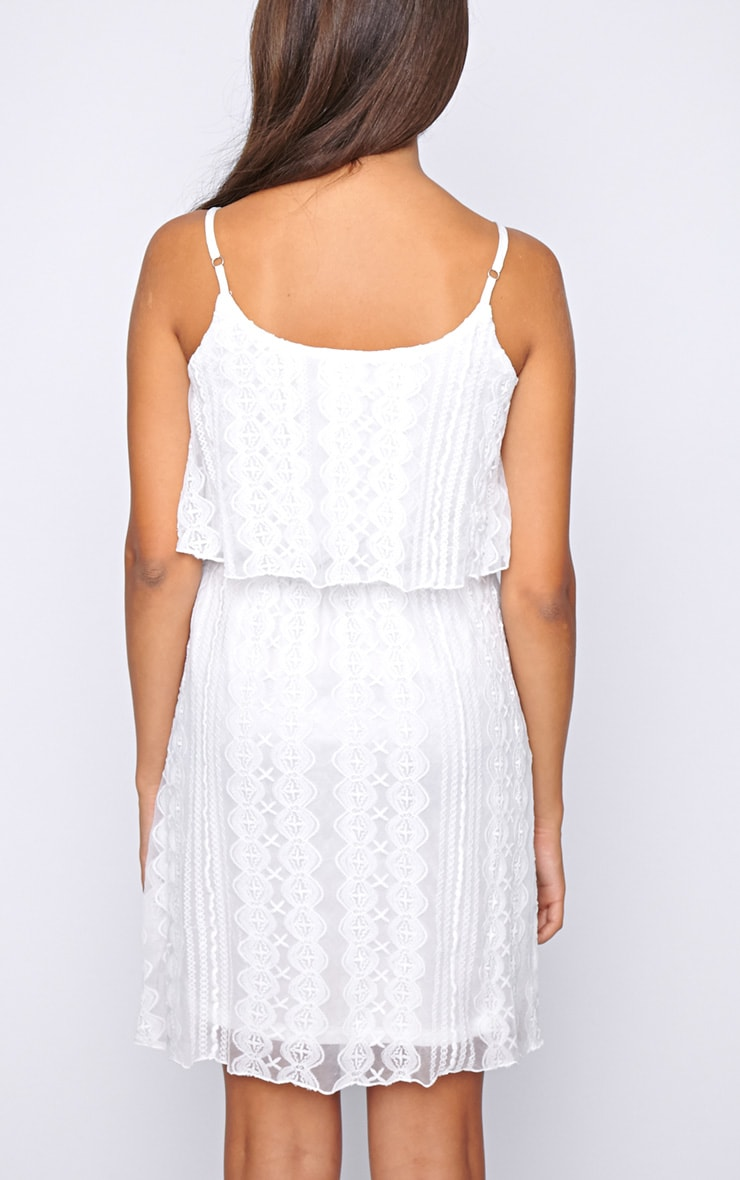 Stacey White Lace Swing Dress  2