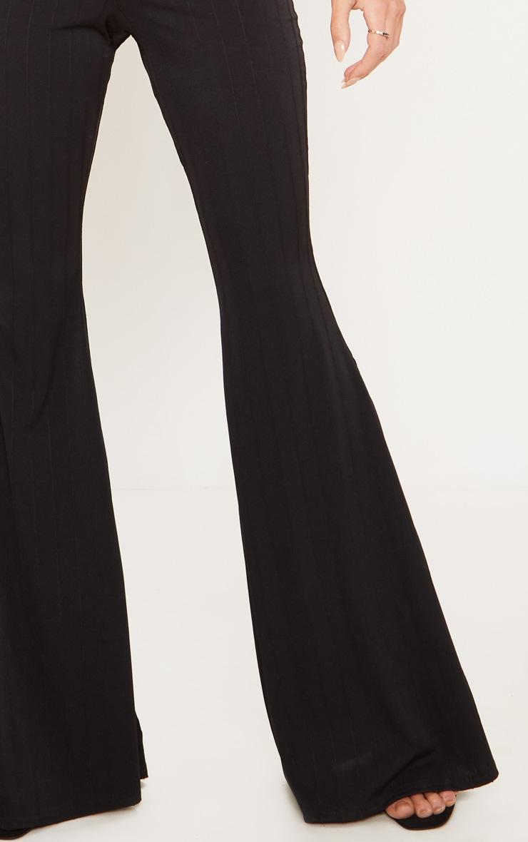 Black Jersey Rib Extreme Flare Trouser 5