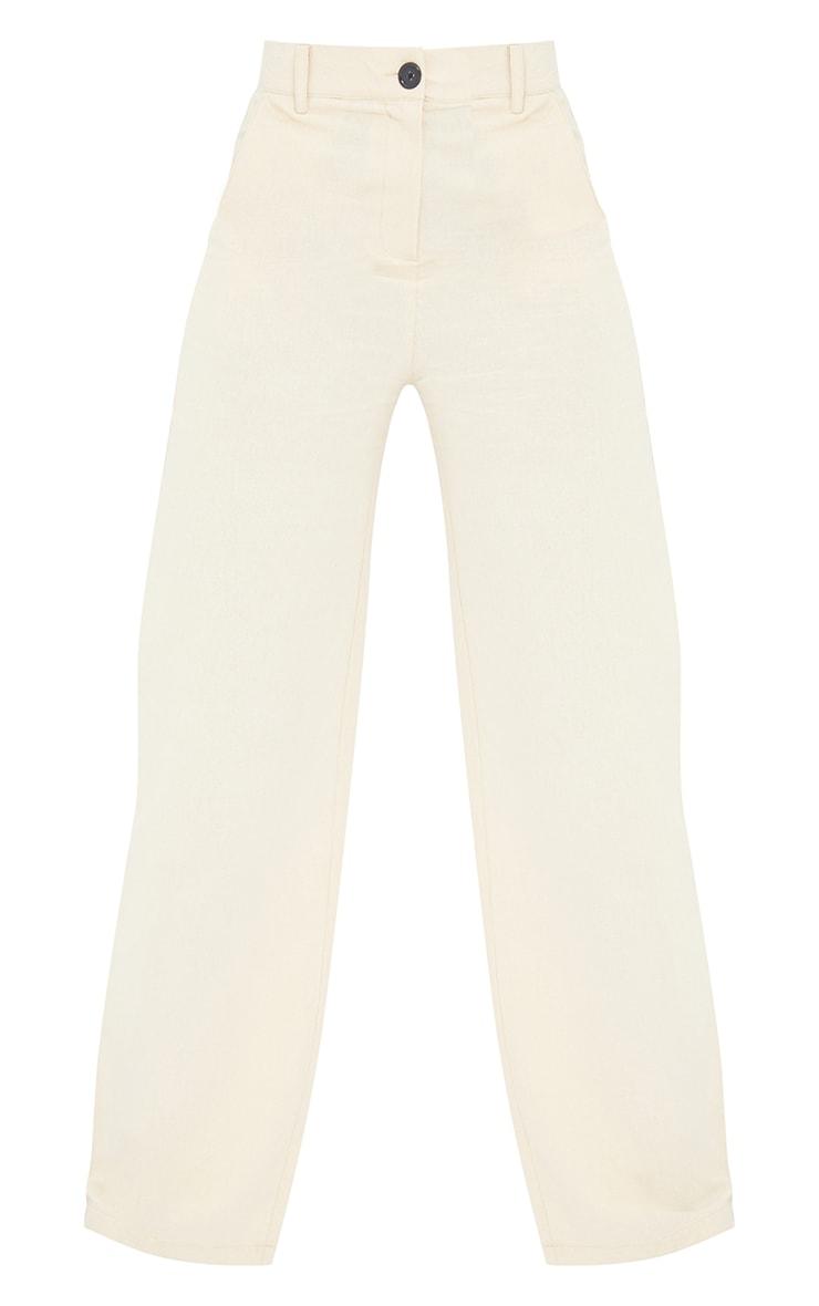 Tall Stone Linen Look Wide Leg Pants 5