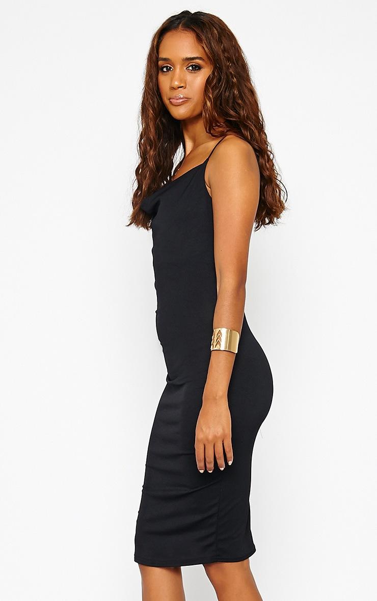 Saki Black Cowl Neck Dress 4