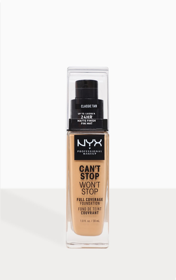 NYX PMU  Can't Stop Won't Stop Full Coverage Foundation Classic Tan 1